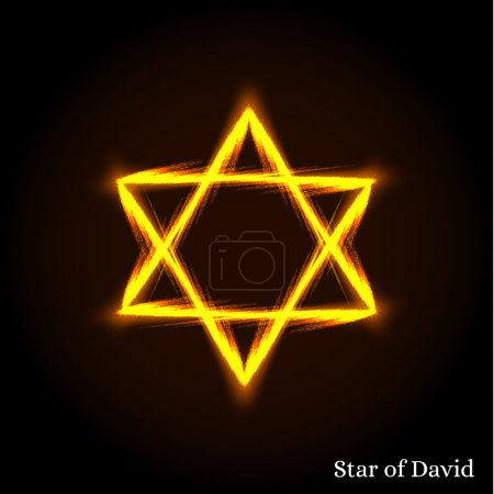 The Star Of David. The Shield Of David. Hexagram. An ancient sym