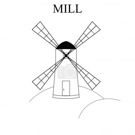 Wind Mill. Building for grinding flour. The production of bread.