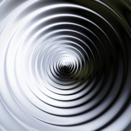 Abstract background of concentric swirling circles creating an illusion of movement