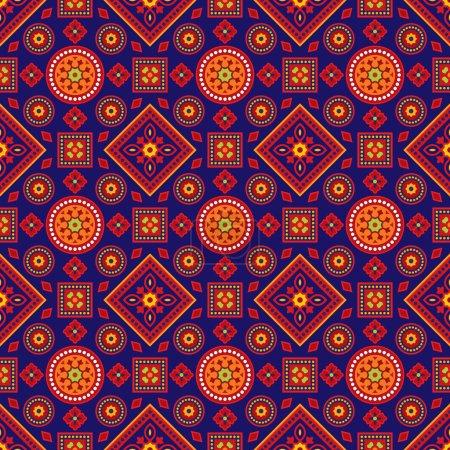 Colourful Ajrak Pattern