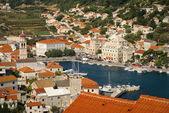 View of Bol city on Brac island