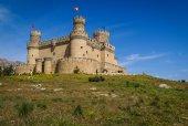 Old mansanares Castle on hill