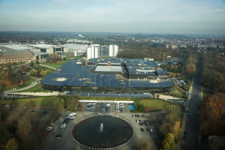 Photo for Cityview from the Atomium, Brussels, Belgium - Royalty Free Image