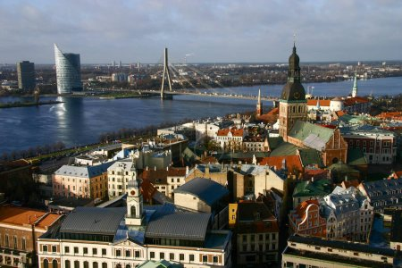 Daugava river and Vansu bridge