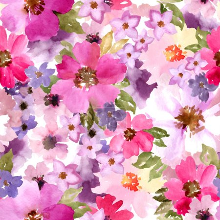 Illustration for Watercolor floral pattern - Royalty Free Image