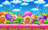 Seamless cartoon Candy land
