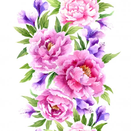 Illustration for Beautiful floral pattern illustration - Royalty Free Image