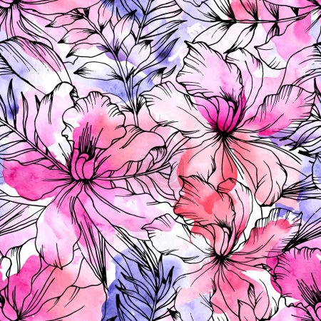 Illustration for Beautiful seamless floral pattern - Royalty Free Image