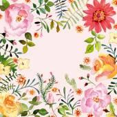 """Постер, картина, фотообои """"акварель. цветочное украшение. весна."""""""