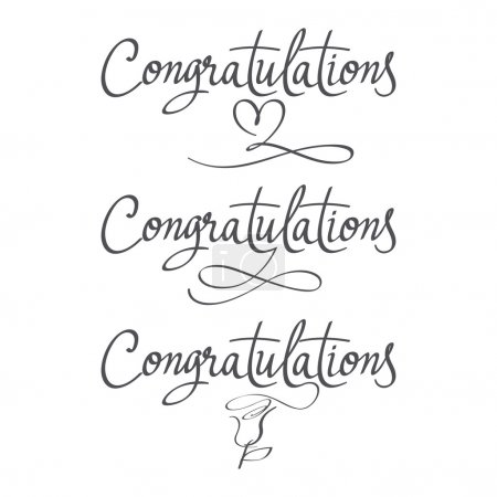 Design a set of labels Congratulations