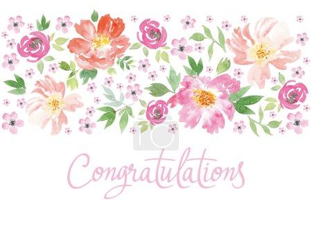 Illustration for Spring flowers. Illustration, vector. Pattern frame. Hand lettering. - Royalty Free Image
