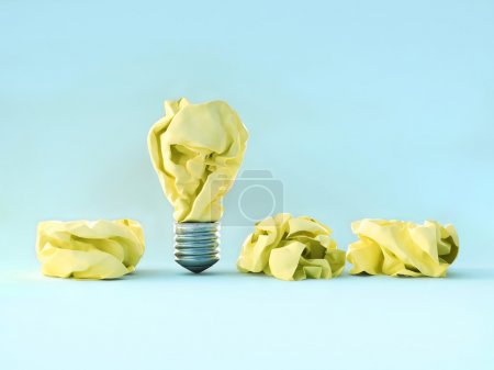 Light-bulb from crumpled paper