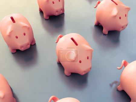 Set of piggy banks