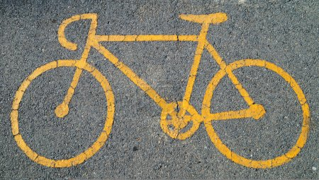 signe de vélo jaune