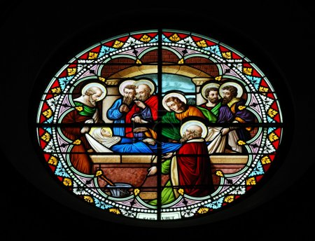 Colorful glass in church