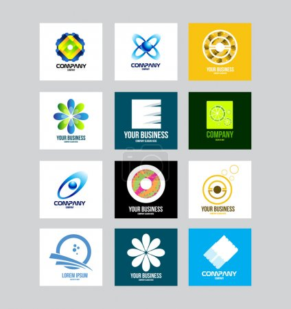 Illustration for Vector company logo icon element template business corporate set - Royalty Free Image