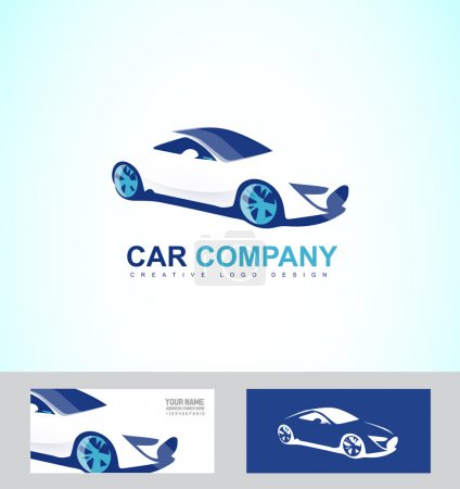 Illustration for Vector company logo icon element template race luxury car repair service - Royalty Free Image
