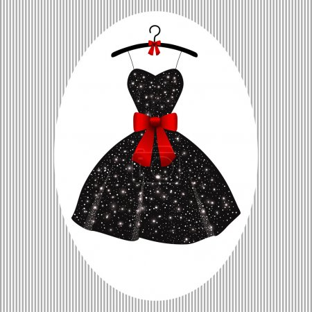 Little evening dress black on hangers