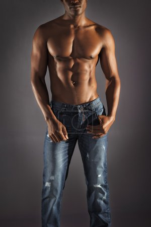 Photo for African male model wearing jeans - Royalty Free Image