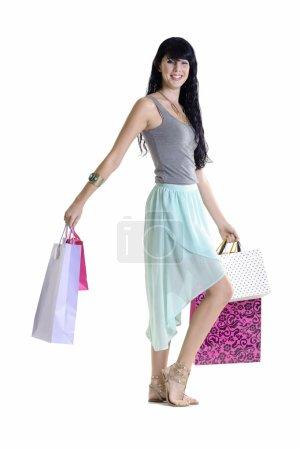shopaholic carrying bags