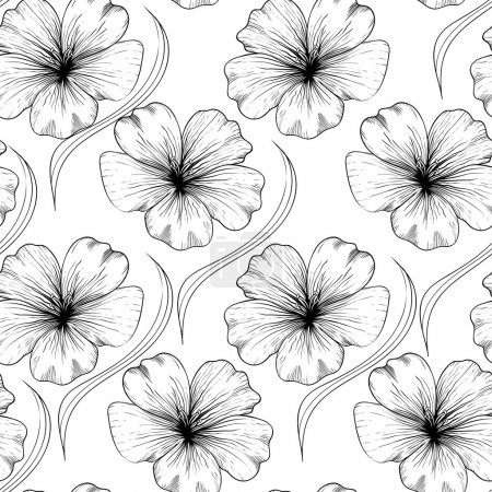 Lowers seamless pattern