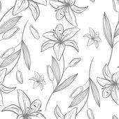 Bezešvé šedá lily vzor