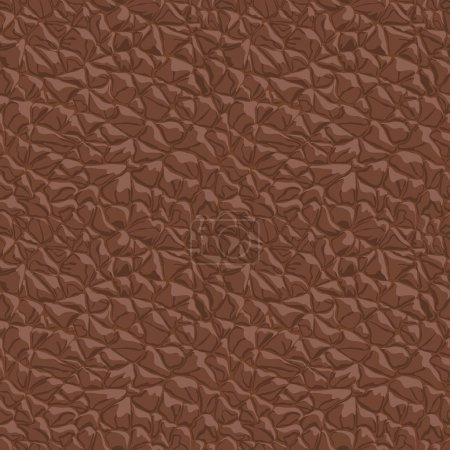 Leather brown seamless texture. Vector illustration.