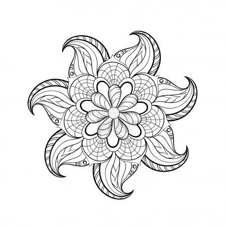 Zentangle stylized tribal Arabic, Indian Mandala. Hand drawn vin