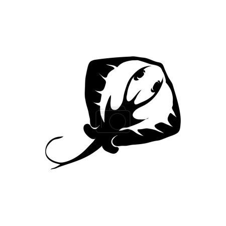 Illustration pour Logo gris marine noir et blanc, illustration vectorielle - image libre de droit