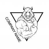 Boar logo in triangle