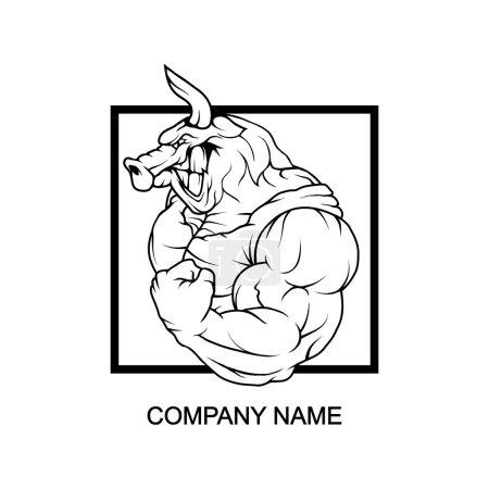 Bull logo in square