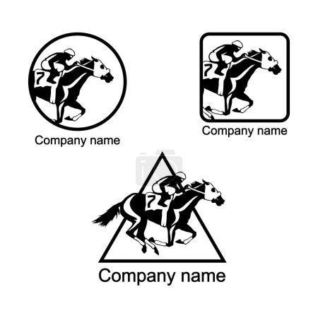 Set of horse racing logo