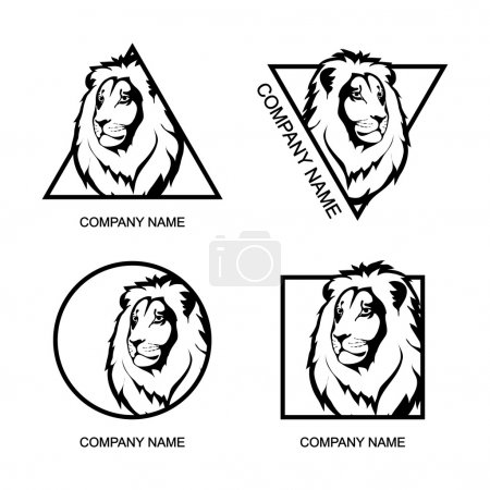 Set of Lion logos