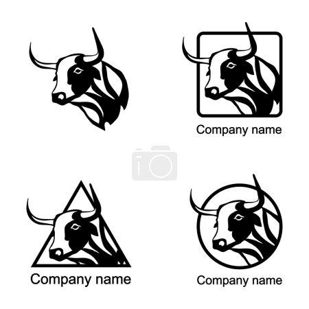 Set of Cow logos