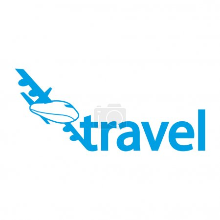 Flat Icon of logo travel