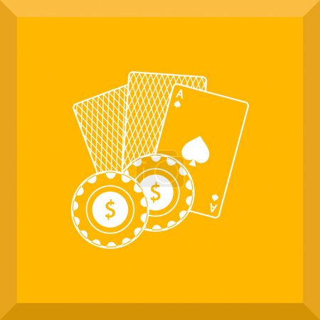 Icon of playing cards and chips