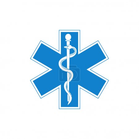 Illustration for Medical symbol isolated on a white background. Vector illustration - Royalty Free Image