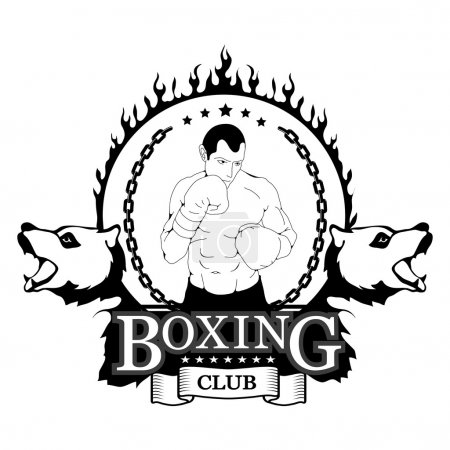 Logo for boxing club