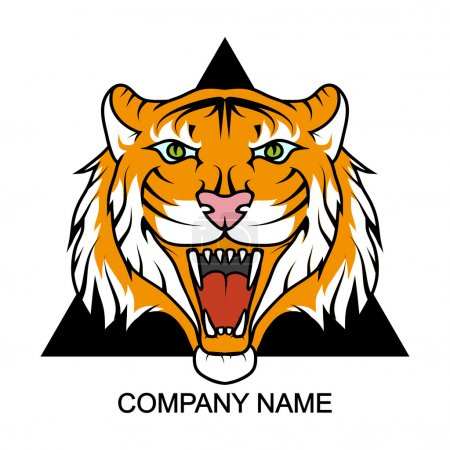 Tiger logo  with place for company name,vector ill...