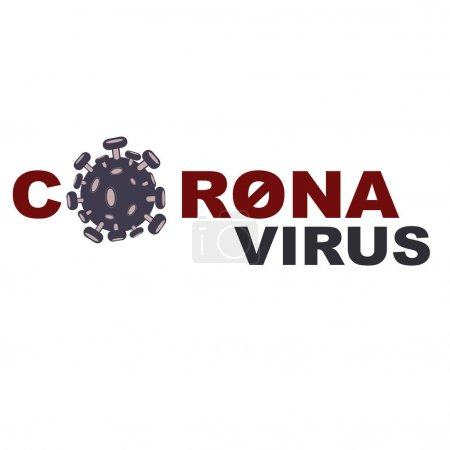 Illustration for Vector with coronavirus lettering on white background - Royalty Free Image