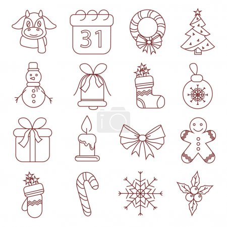 Illustration for Vector with christmas illustration on white background - Royalty Free Image