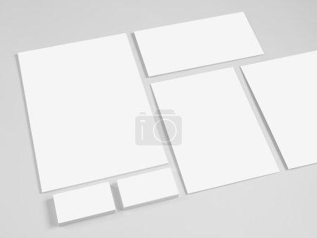 Set of branding corporate design templates.