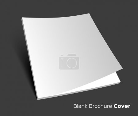 Blank brochure cover on dark