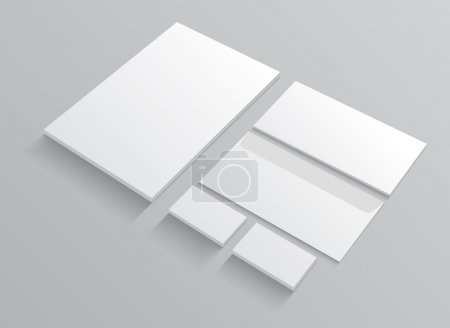 Set of corporate identity templates stationery.
