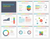 Set of Presentation Template Infographic elements on slides