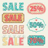 Sale tags collection