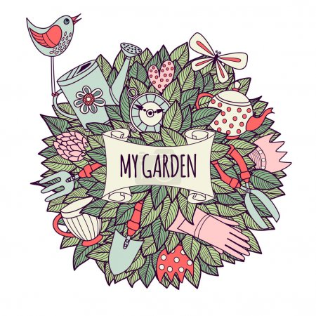 Illustration. My garden