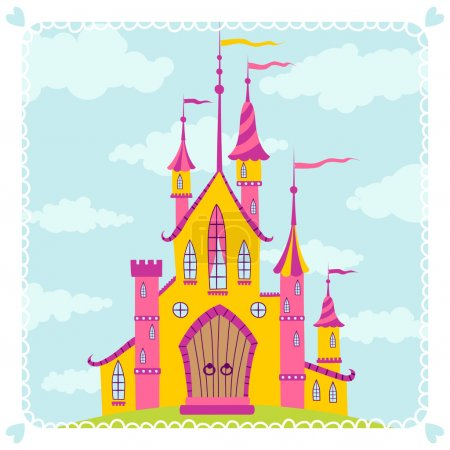 Illustration of an old castle