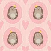 Pattern with hedgehogs