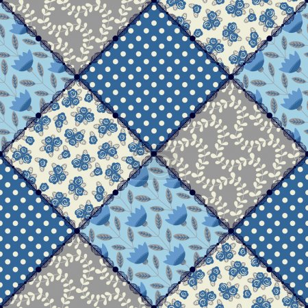 Seamless pattern patchwork.